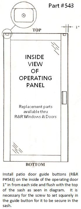 How To Install Hurd Patio Door Guide Buttons